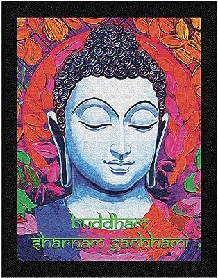 ArtX Paper Gautam Buddha Wall Art, Multicolor, Traditional, 10.5X13.5 in, Set of 1