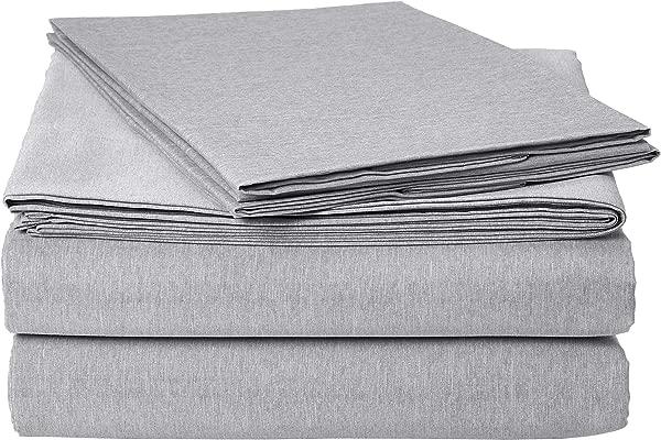 AmazonBasics Chambray Bed Sheet Set Queen Slate Grey
