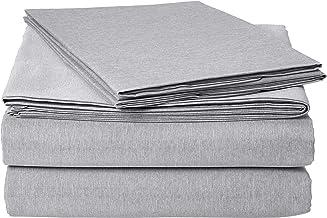 AmazonBasics Chambray Bed Sheet Set - Full, Slate Grey