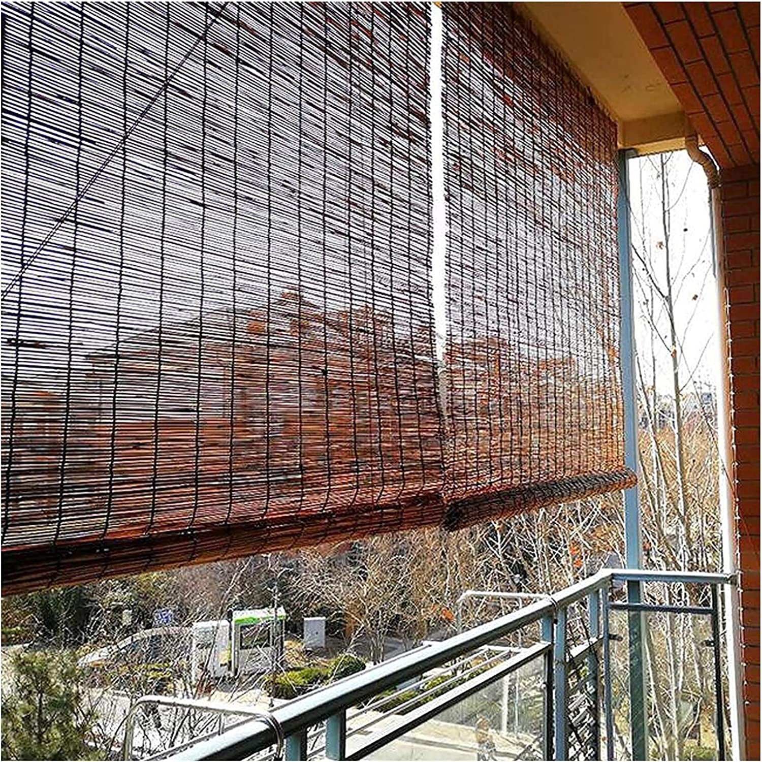 TUOL1AO Bamboo Shades Liftable Roller Ins Heat Blinds Sunshade Max 77% OFF Fixed price for sale