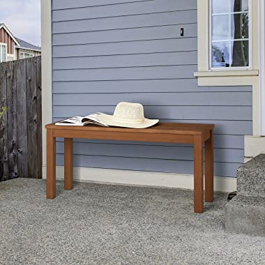 Furinno FG181110-C Tioman Outdoor Backless Bench, Natural