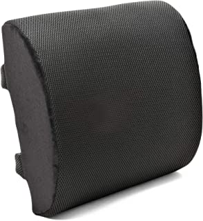 Plixio Memory Foam Lumbar Back Cushion Support Pillow - Lower Back Pain Relief and Balanced Firmness for Computer Office Chair, Car Seat, Recliner - with Adjustable Straps