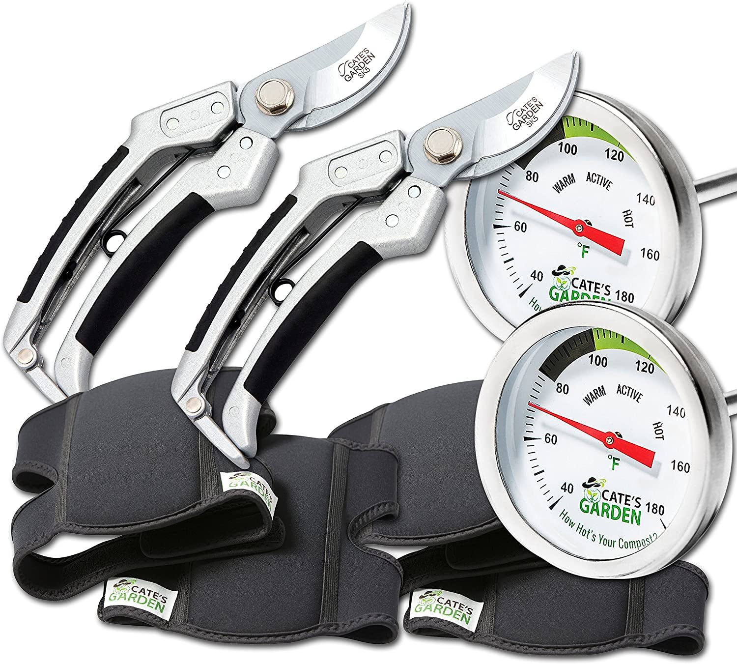 Cate's Garden 6-Piece Tool 2021 spring and summer new Set- Thermometer Pre 2 Translated Compost