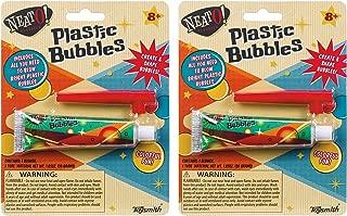 Toysmith (2 Pack Bundle Savers! Plastic Blowup Magic Balloon Bubbles