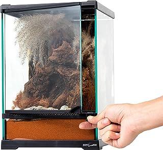 REPTI ZOO Mini Reptile Glass Terrarium,Front Opening Door Full View Visually Appealing Mini Reptile or Amphibians Glass Ha...