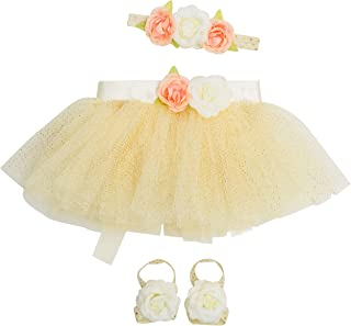 Newborn Girl Tutu Set Skirt with Headband Photography Prop