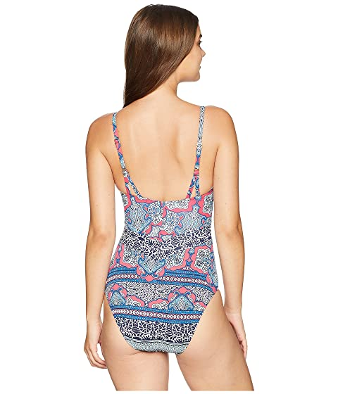 One Lace Cerise Riviera Piece Bahama Tile Front Tommy 6gzRA