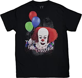 Goodie Two Sleeves Men's Pennywise The Clown They All Float Down Here T-Shirt