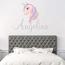 Custom Name Unicorn Nursery Wall Decal - Girls Personalized Name Unicorn Wall Sticker - Custom Name Sign - Custom Name Stencil Monogram - Girls Nursery Wall Decor