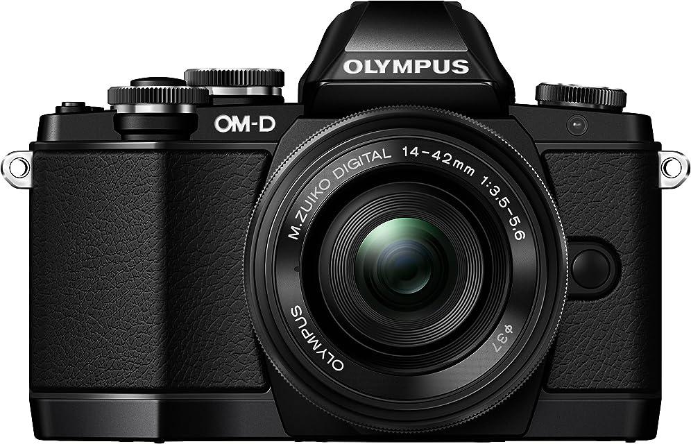 Olympus OM-D E-M10 - Cámara Evil de 16.1 MP (Pantalla táctil abatible 3 estabilizador óptico vídeo Full HD WiFi) Color Negro - Kit Cuerpo cámara con Objetivo 14-42 mm EZ