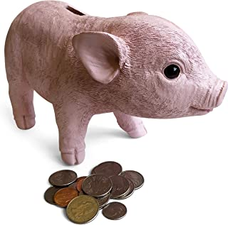 Kids Piggy Bank for Girls & Boys of all Ages - Lifelike Teacup Piglet Coin Bank is a fun and cute piggy bank for Adults too - Features gift ready packaging and wide slot for both coin and bills