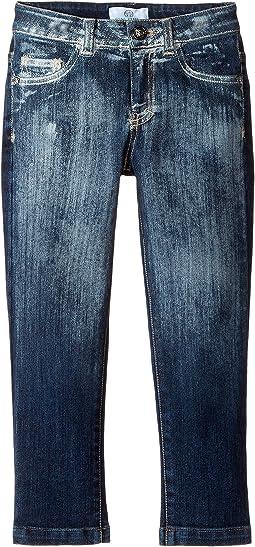 Versace Kids - Faded Denim Pants (Toddler/Little Kids)