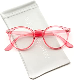 WearMe Pro - Clear Lens Semi Transparent Clear Frame Colorful Glasses