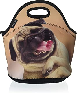 Wrapables A70833c Insulated Neoprene Reusable Lunch Bags One Size Happy Puppy