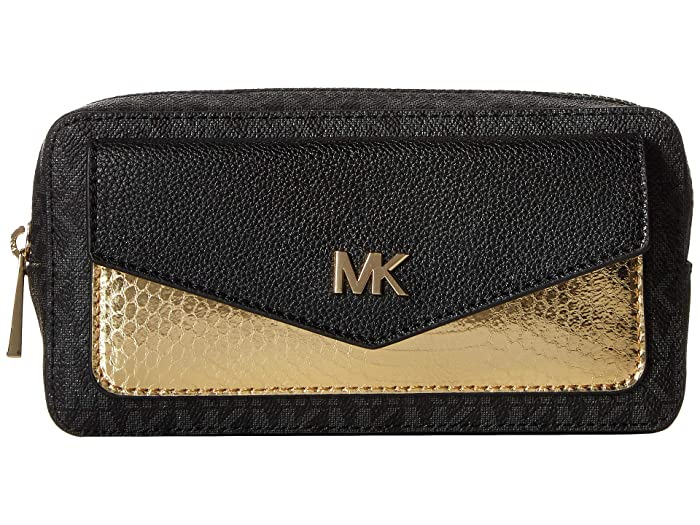 MICHAEL Michael Kors Logo PVC Belt Bag (Black) Women