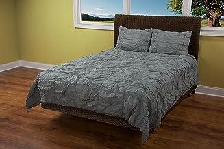"Rizzy Home BT1505 Comforter, 106""X92"", Gray"