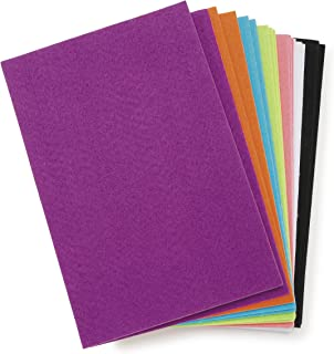 """Darice Felties Stiff Felt Sheets with Sticky Backs (18 Sheets) – Assorted Bright Colors – Great for Craft Projects with Kids, Costumes, Classrooms, Scouts, Parties – 6"""" L x 9"""" W, 1mm Thick Per Sheet"""