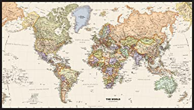 Legacy World Wall Map - 50