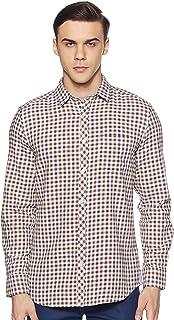 Amazon Brand - Symbol Men's Checkered Regular Fit Casual Shirt