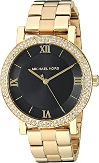 Women's Norie Quartz Watch with Stainless Steel Strap, Gold, 18 (Model: MK4404)
