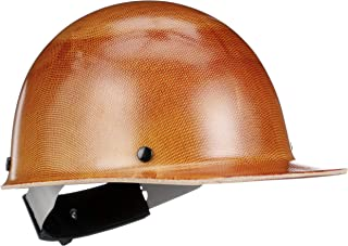 MSA 816651 Skullgard Protective Hard Hat Front Brim, Swing-Ratchet Suspension, Standard Size, Natural Tan