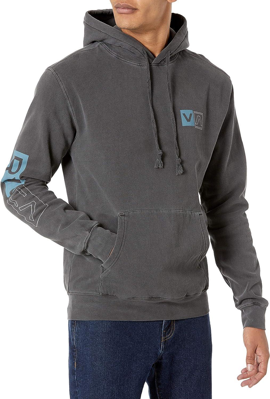 RVCA Men's Pigment Dye Hooded Pullover Fleece: Clothing