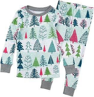 HonestBaby baby-boys Organic Cotton 2-Piece Snug Fit Toddler Pajama Set Pajama Set