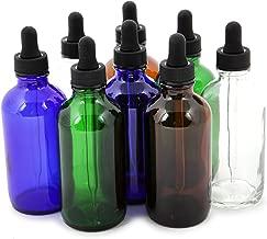 Vivaplex, 8, Assorted Colors, 4 oz Glass Bottles, with Glass Eye Droppers