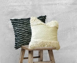 satTva Cushions Covers Set of 2 -𝙱𝙾𝙷𝙾 𝙷𝙰𝙽𝙳𝚆𝙾𝚅𝙴𝙽 Throw Pillow Covers For Living Room Sofa 45x45~ 1 Moroccan Bl...