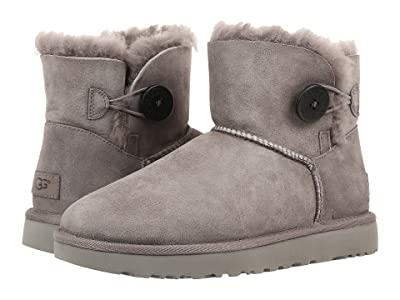 UGG Mini Bailey Button II (Grey) Women