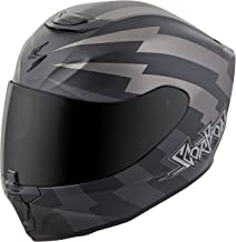 Scorpion EXO-R420 Full-Face Tracker Street Bike Motorcycle Helmet - Titanium/Black/X-Large