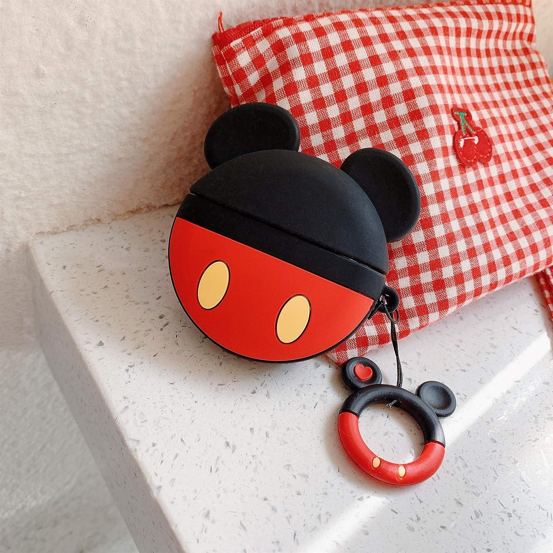 Cocomii 3D Disney AirPods Pro H/ülle Schlank Matte Sanft TPU Silikon Gummi Gel Mit Schl/üsselring 3D-Disney-Figuren Karikatur Case Bumper Cover Schutzh/ülle Compatible with Apple AirPods Pro Angel
