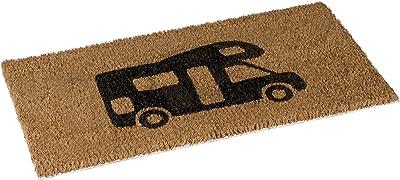 No Label Door mat Coco Camper 25x50 cm, Coir, Brown, 50 x 25 x 1 cm