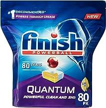 Finish Powerball Quantum Dishwasher Tablets, Lemon Sparkle, 80 Pack