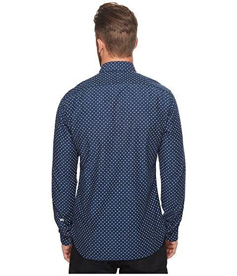 Printed in Soda Scotch amp; Over Pattern Ams Slim Fit Seasonal Shirt Blauw All gg8r5qxFv
