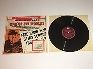 WAR OF THE WORLDS Orson Wells Original Broadcast Dbl LP Vinyl VG GF 4001