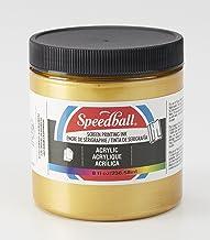 Speedball Acrylic Screen Printing Ink, 8-Ounce, Gold