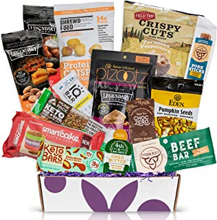 KETO Snacks care package: Ultra Low Carb, Low Sugar,High Fat Ketogenic Diet Snacks, Keto Bars, Cookies, Keto Jerky & Pork Rinds, Perfect Keto Gift Basket