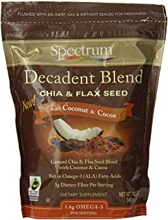 Spectrum Essentials Chia and Flax Seed Decadent Blend with Coconut and Cocoa 12 Oz