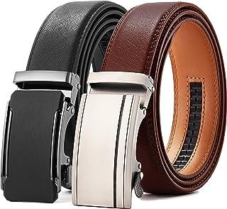 "Mens Belt Gift Set, CHAOREN Leathet Ratchet Belt for Men Dress 1 3/8"" with Automatic Buckle, Adjustable Trim to Exact Fit"