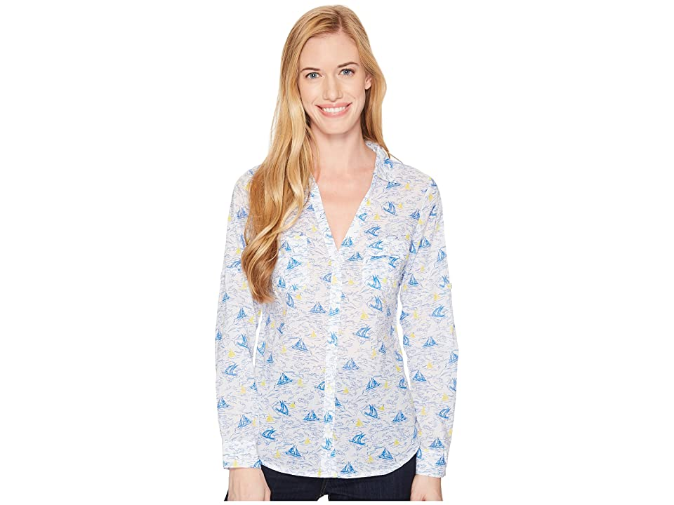 Columbia Sun Driftertm L/S Shirt (Blue Macaw Toile Boats) Women