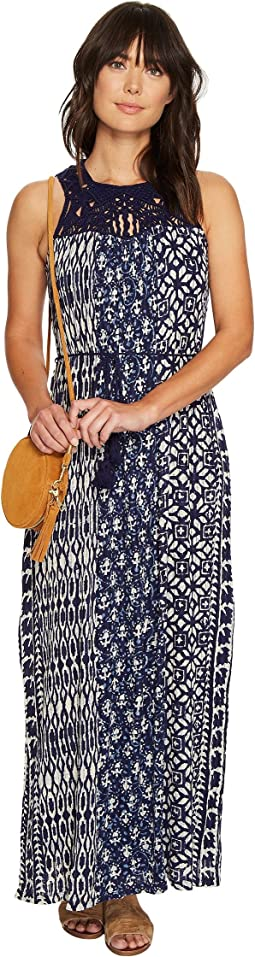 Lucky Brand Macrame Yoke Dress