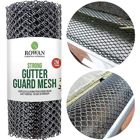 Gutter Guard Leaf Mesh Roof Guttering Stop Leaf Blocks 6m x 16cm
