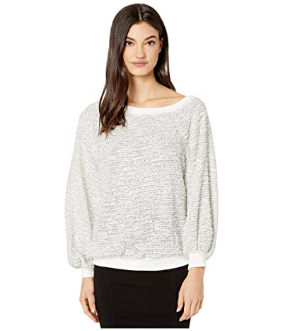 1.STATE Off-the-Shoulder Eyelash Knit (Soft Ecru) Women