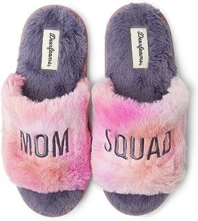 Dearfoams Women's Lane Slide with Slogan, Cozy Mother's Day Gift Slipper