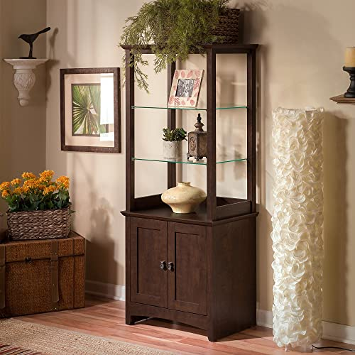 Buena Vista Tall Library Storage Cabinet With Doors