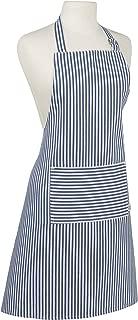 Now Designs Basic Cotton Kitchen Chef's Apron, Narrow Stripe Royal Blue