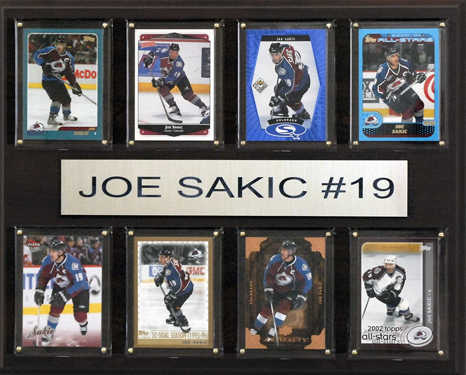 CandICollectables 1215SAKIC8C NHL 12 x 15 in. Joe Sakic colorado Avalanche 8Card Plaque