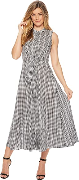 Tie Front Gingham Maxi CD8G27HU