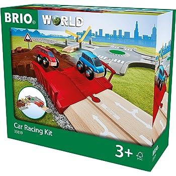 BRIO Bahn 33819 - Auto-Spielset Stadt und Land